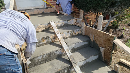 Installation of Concrete Steps and Landing